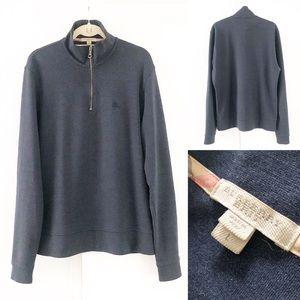 BURBERRY BRIT dark blue 1/2 zip pullover sweater L